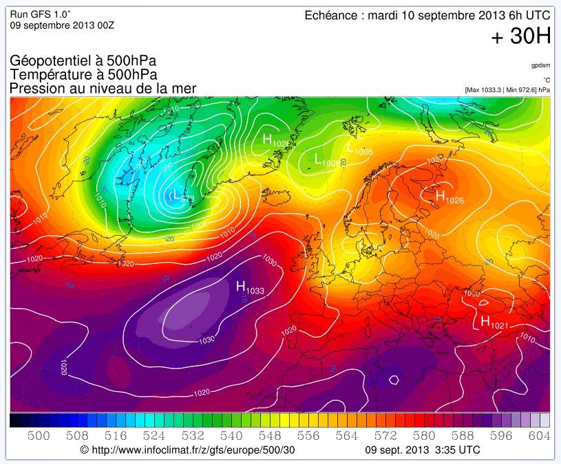 les hautes pressions vont venir vers l'Est